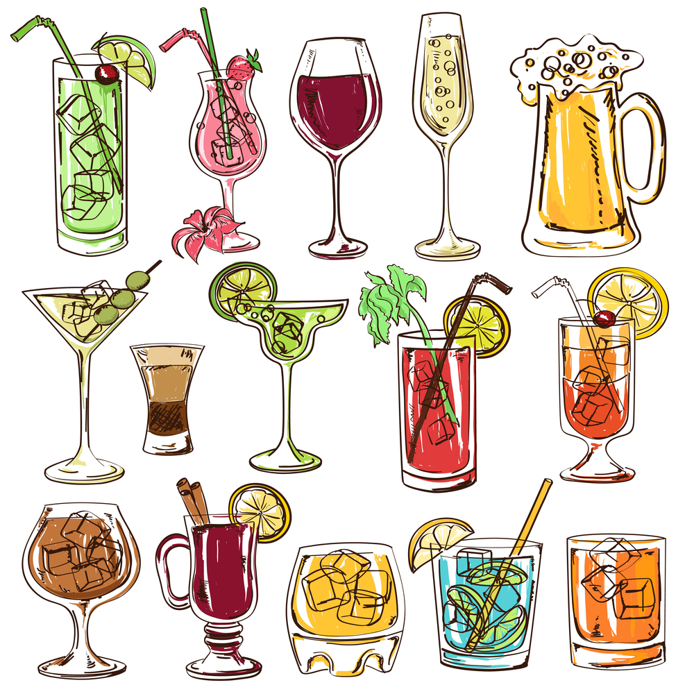 Mixing Drinks Drawing
